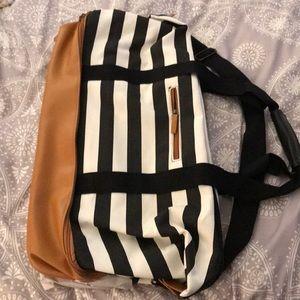 Striped Weekend Bag - brand new